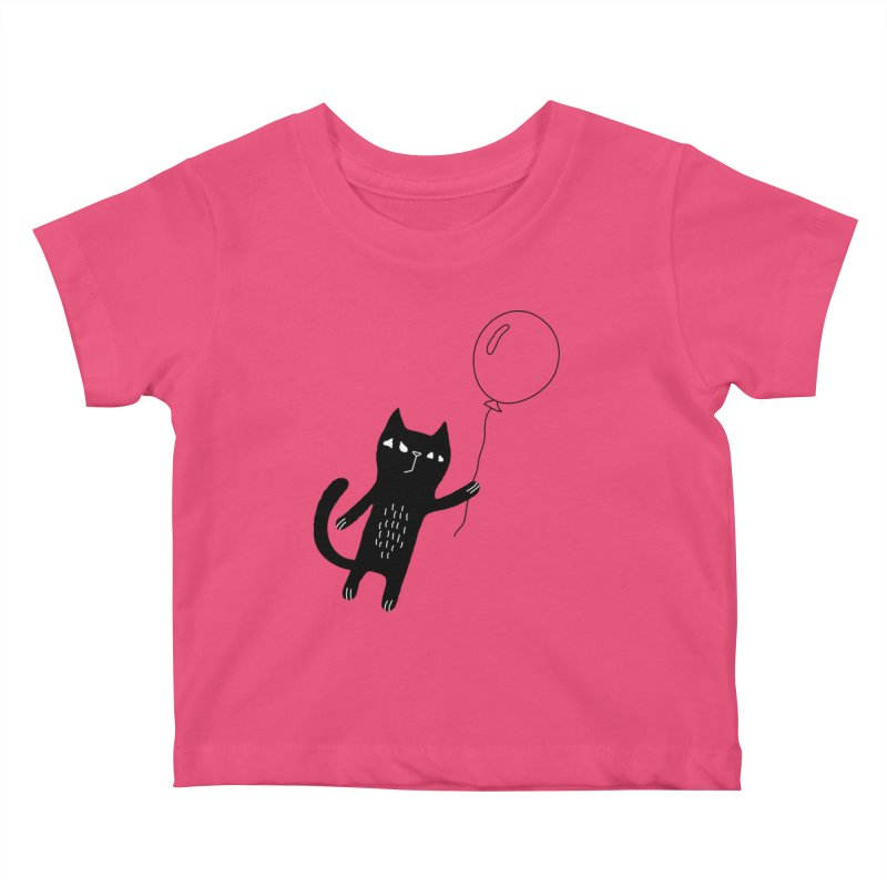 Flying Cat Kids Baby T-Shirt by PENARULIT's Artist Shop