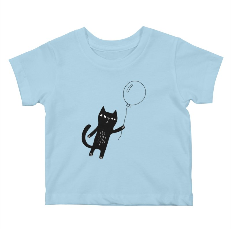 Flying Cat Kids Baby T-Shirt by PENARULIT's Artist Shop