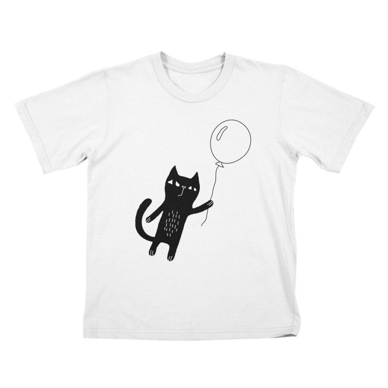 Flying Cat Kids T-Shirt by PENARULIT's Artist Shop