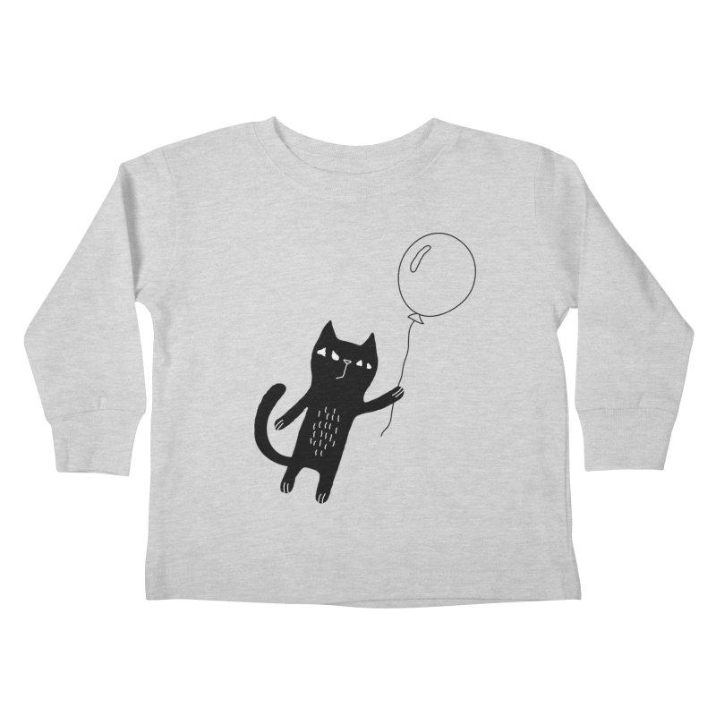 Flying Cat Kids Toddler Longsleeve T-Shirt by PENARULIT's Artist Shop