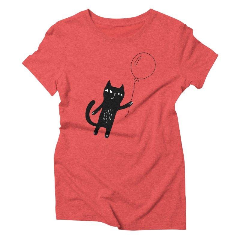Flying Cat Women's Triblend T-Shirt by PENARULIT's Artist Shop