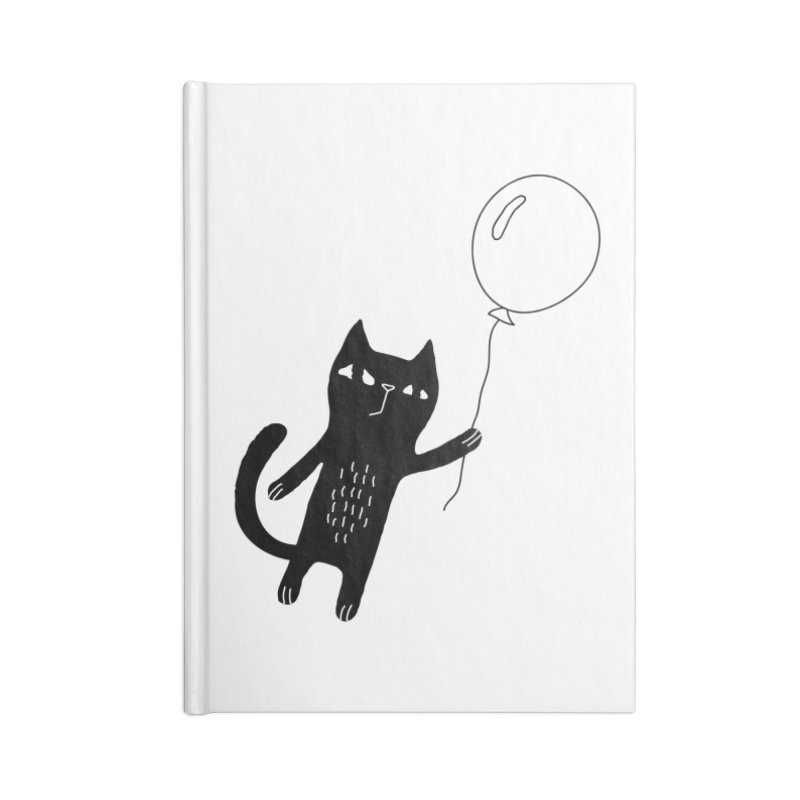 Flying Cat Accessories Blank Journal Notebook by PENARULIT illustration