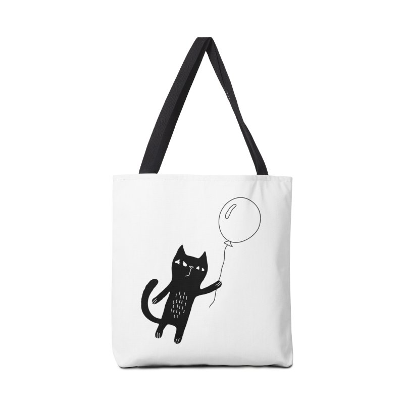 Flying Cat Accessories Tote Bag Bag by PENARULIT illustration