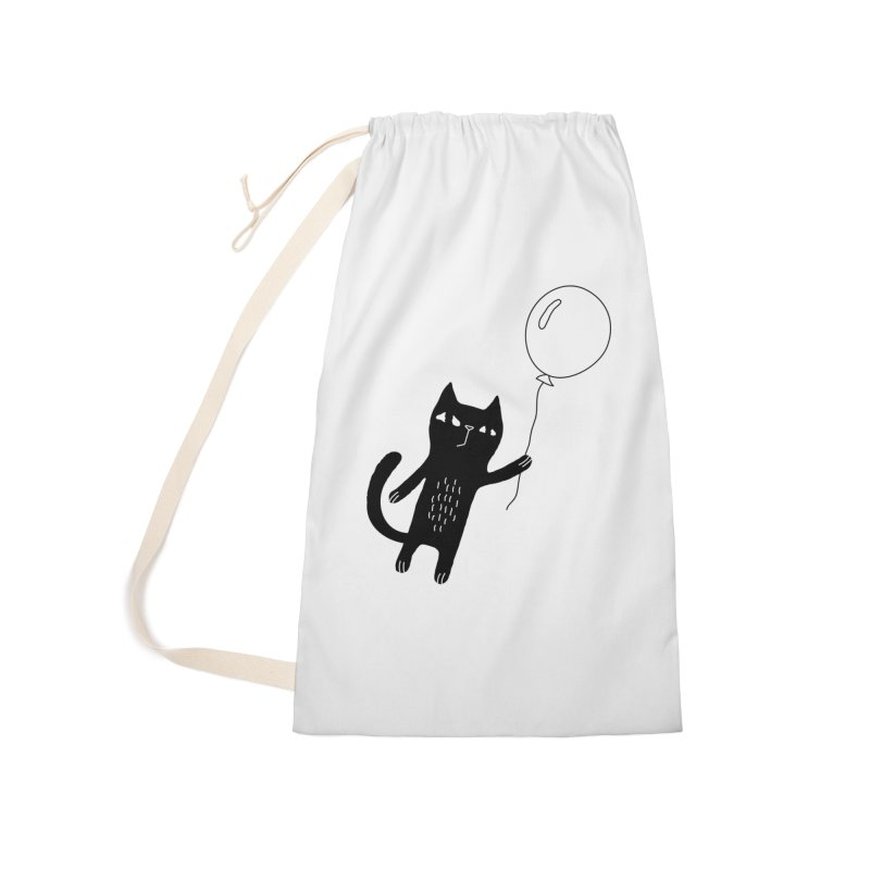 Flying Cat Accessories Laundry Bag Bag by PENARULIT's Artist Shop