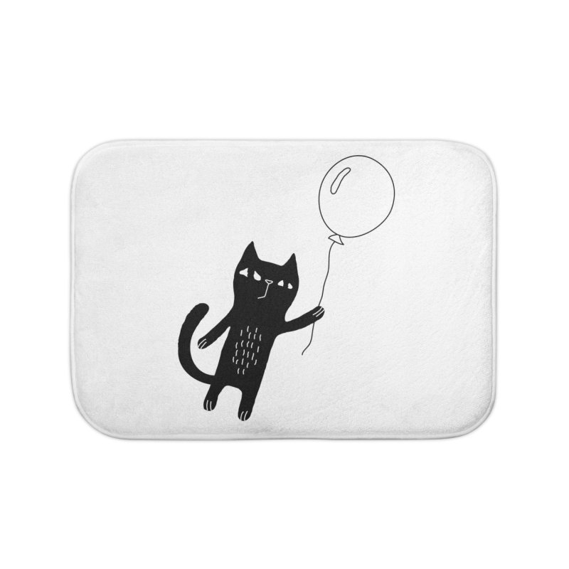 Flying Cat Home Bath Mat by PENARULIT illustration