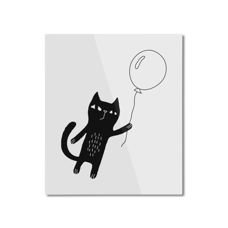 Flying Cat Home Mounted Aluminum Print by PENARULIT illustration