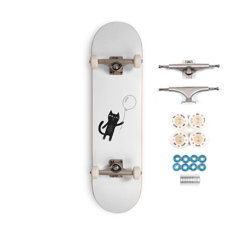 Flying Cat Accessories Complete - Premium Skateboard by PENARULIT illustration