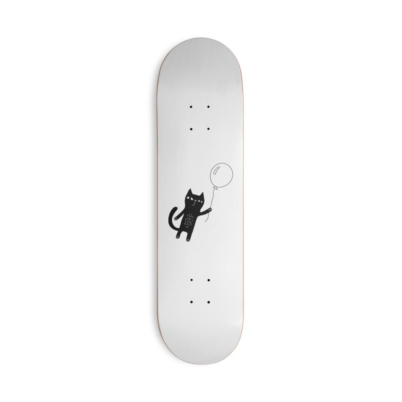 Flying Cat Accessories Deck Only Skateboard by PENARULIT illustration