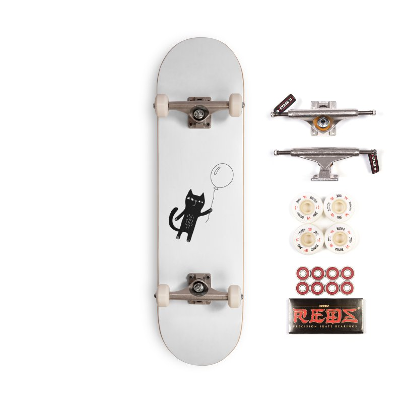Flying Cat Accessories Complete - Pro Skateboard by PENARULIT illustration