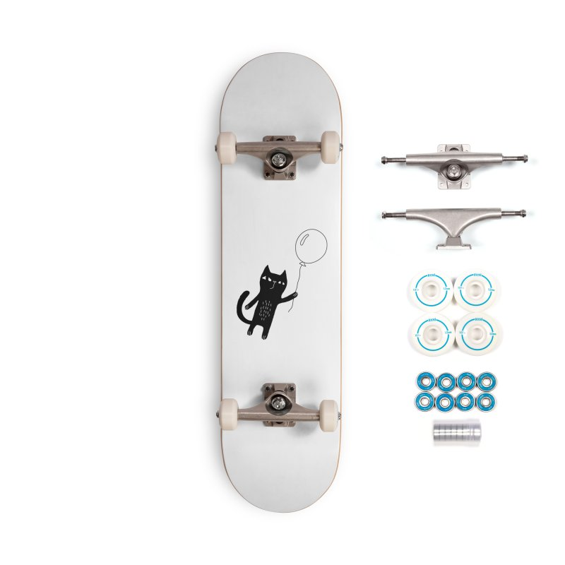 Flying Cat Accessories Complete - Basic Skateboard by PENARULIT illustration