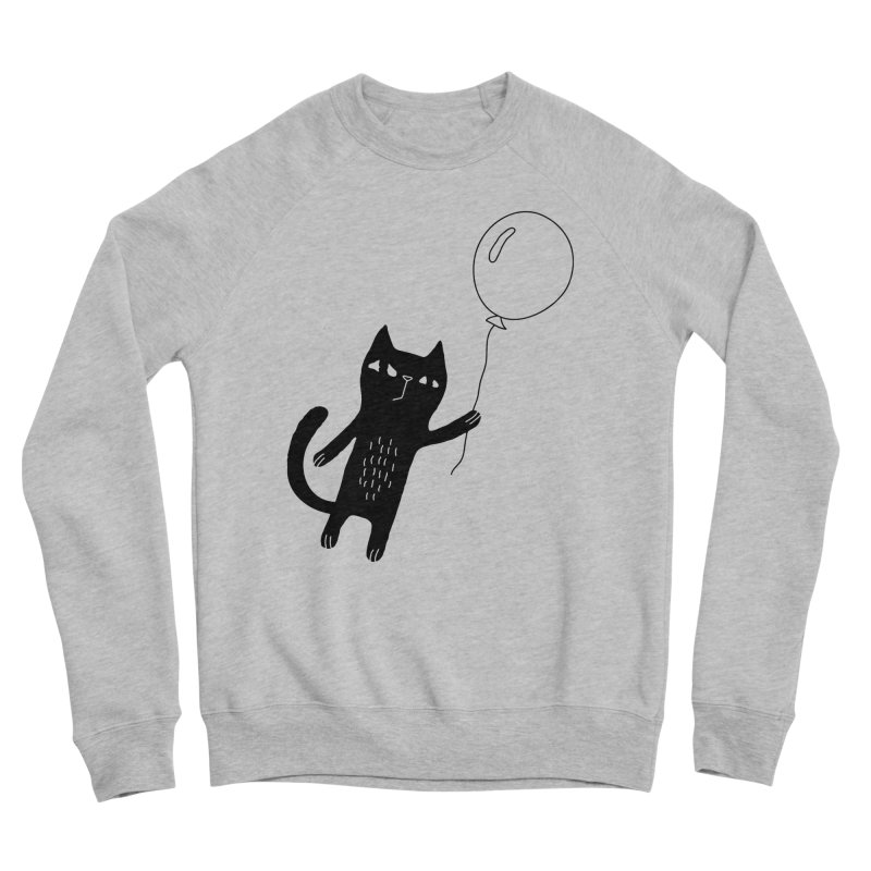 Flying Cat Men's Sweatshirt by Ekaterina Zimodro's Artist Shop