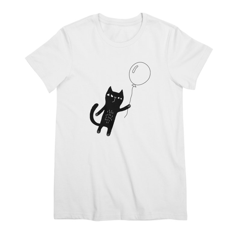 Flying Cat Women's Premium T-Shirt by PENARULIT illustration