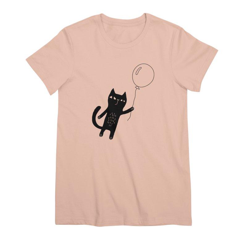 Flying Cat Women's T-Shirt by PENARULIT illustration