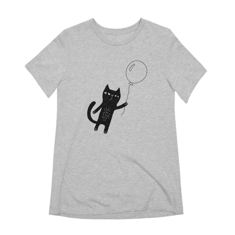 Flying Cat Women's Extra Soft T-Shirt by PENARULIT's Artist Shop