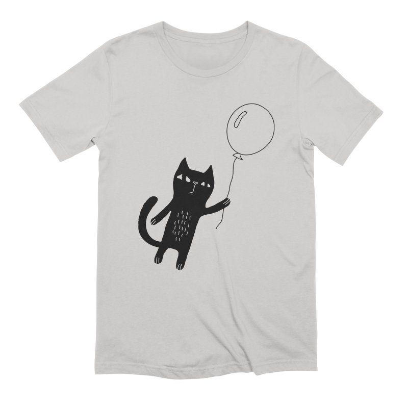 Flying Cat Men's Extra Soft T-Shirt by PENARULIT illustration