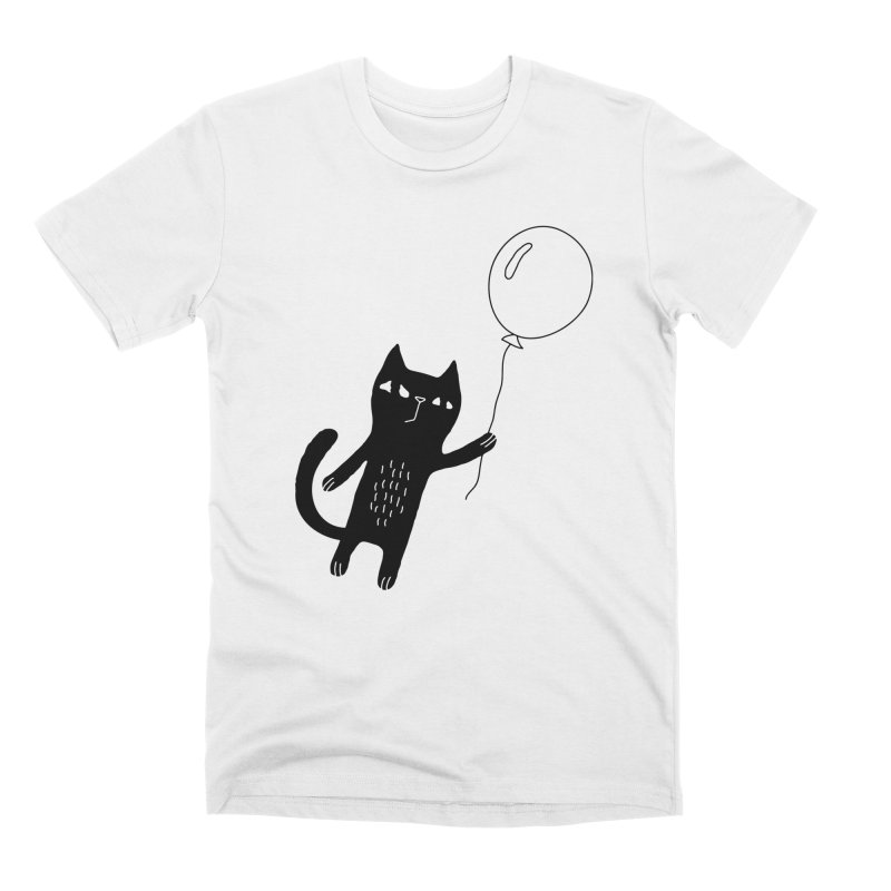 Flying Cat Men's Premium T-Shirt by PENARULIT illustration