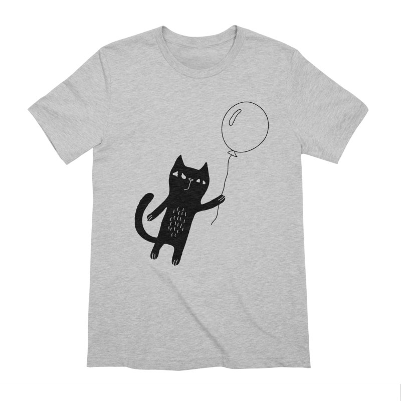 Flying Cat Men's Extra Soft T-Shirt by Ekaterina Zimodro's Artist Shop