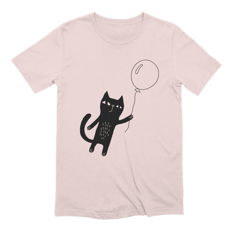 Flying Cat Men's Extra Soft T-Shirt by Ekaterina Zimodro's Artist Shop