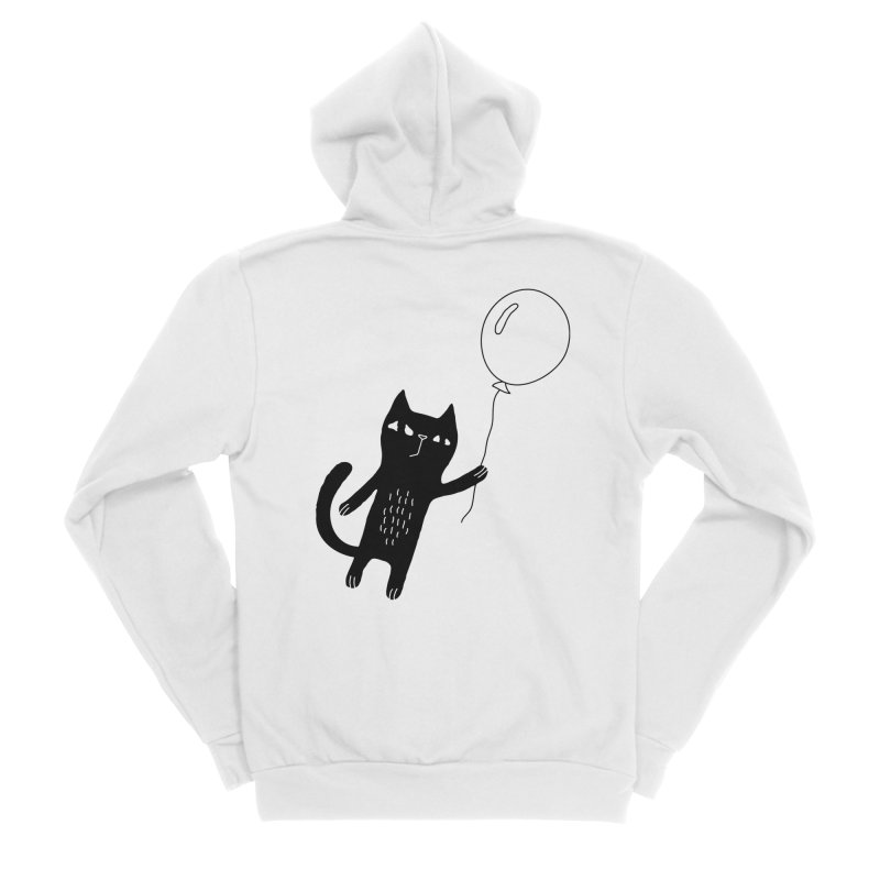 Flying Cat Women's Sponge Fleece Zip-Up Hoody by PENARULIT illustration