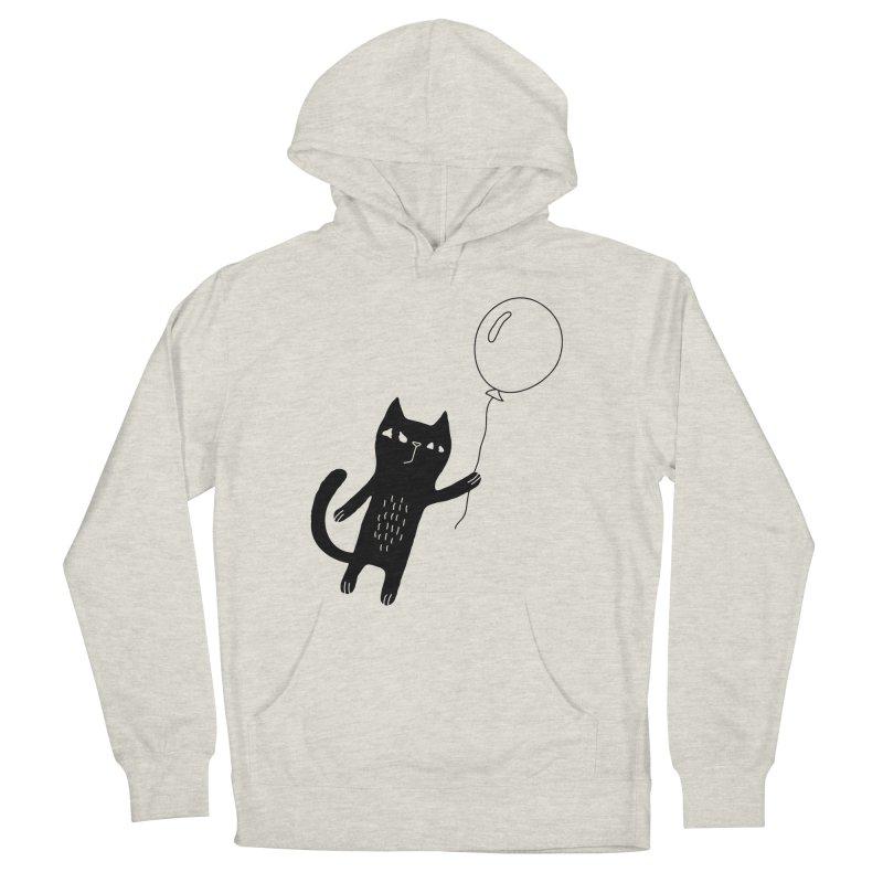 Flying Cat Men's Pullover Hoody by Ekaterina Zimodro's Artist Shop