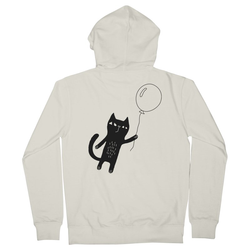 Flying Cat Men's Zip-Up Hoody by Ekaterina Zimodro's Artist Shop