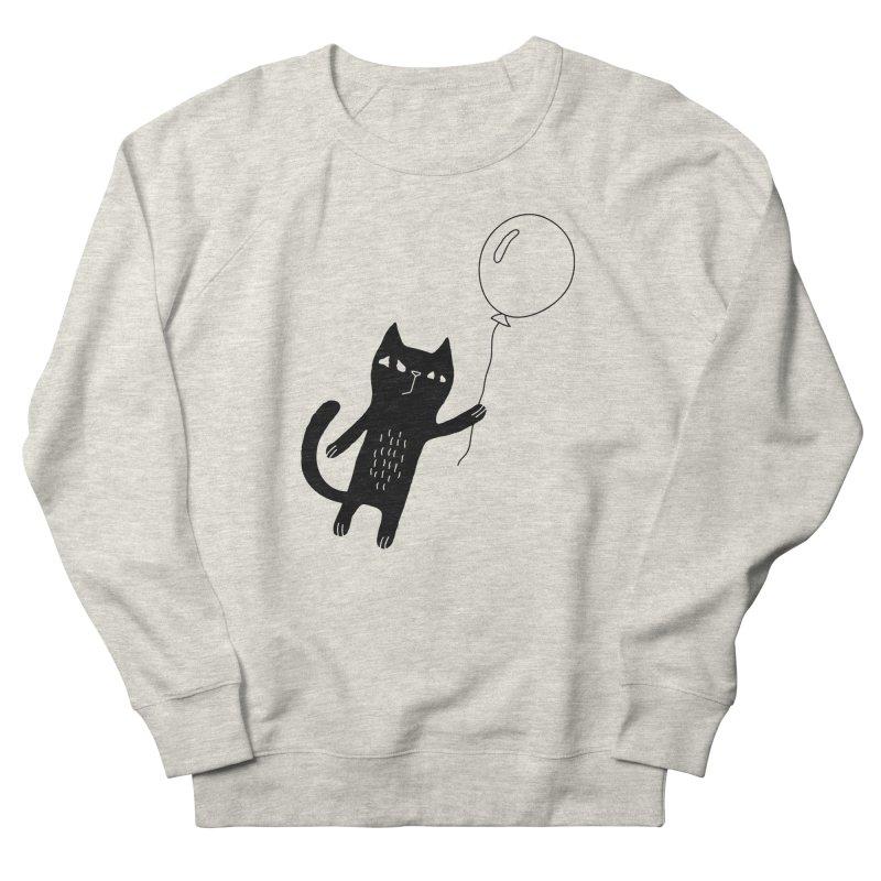 Flying Cat Women's Sweatshirt by PENARULIT illustration