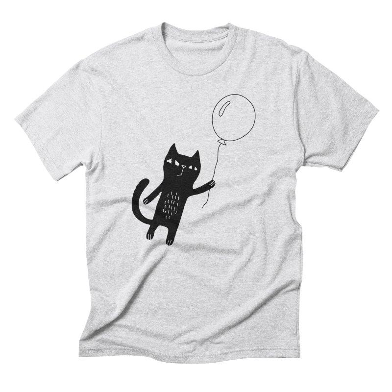Flying Cat Men's T-Shirt by PENARULIT illustration