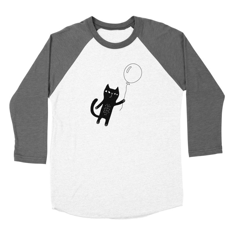 Flying Cat Women's Longsleeve T-Shirt by Ekaterina Zimodro's Artist Shop