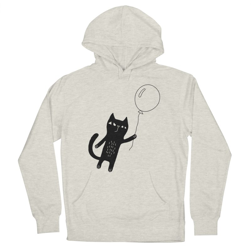 Flying Cat Men's French Terry Pullover Hoody by Ekaterina Zimodro's Artist Shop