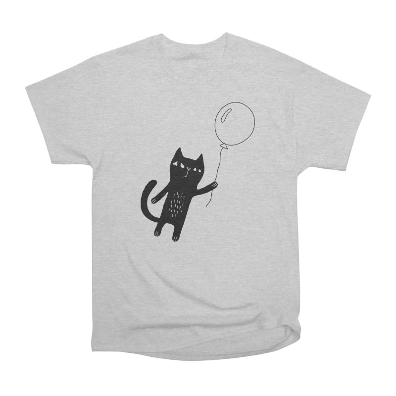 Flying Cat Men's Heavyweight T-Shirt by Ekaterina Zimodro's Artist Shop