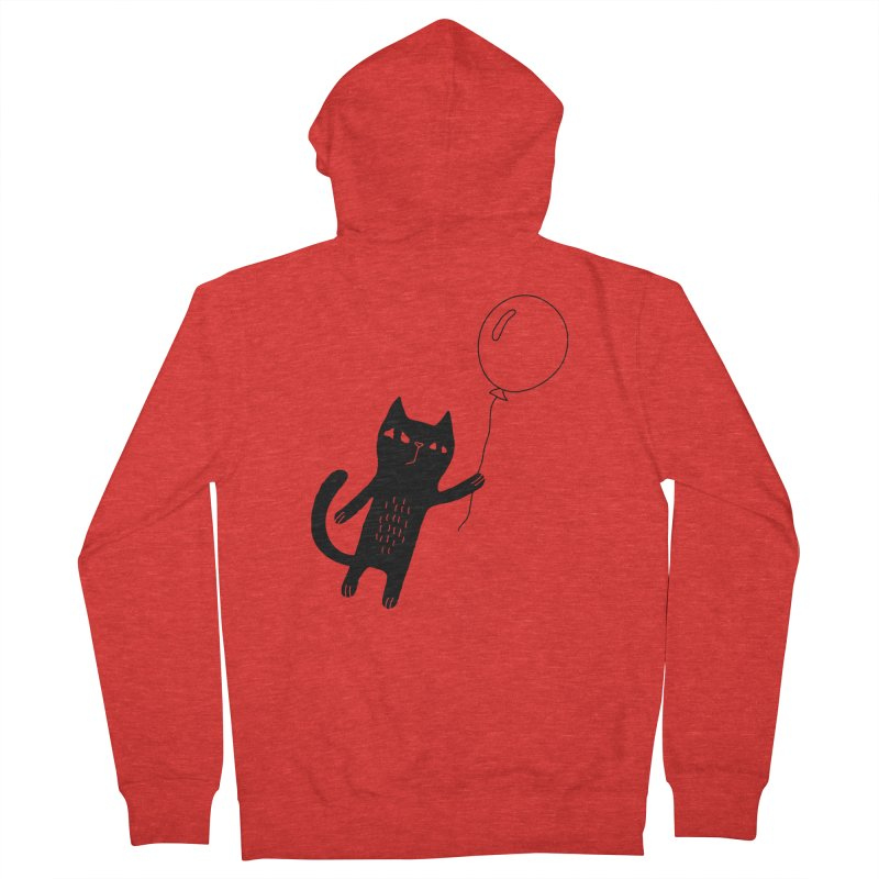 Flying Cat Men's Zip-Up Hoody by Ekaterina Zimodro's Artist Shop