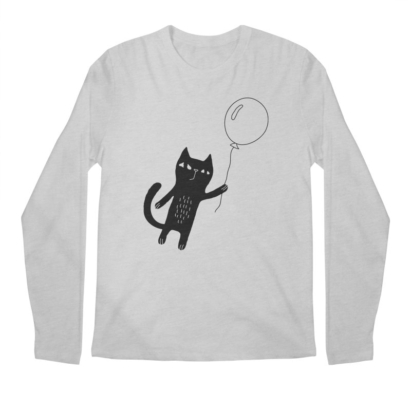 Flying Cat Men's Longsleeve T-Shirt by PENARULIT illustration