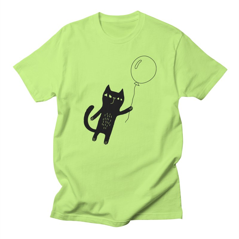 Flying Cat Men's Regular T-Shirt by PENARULIT illustration