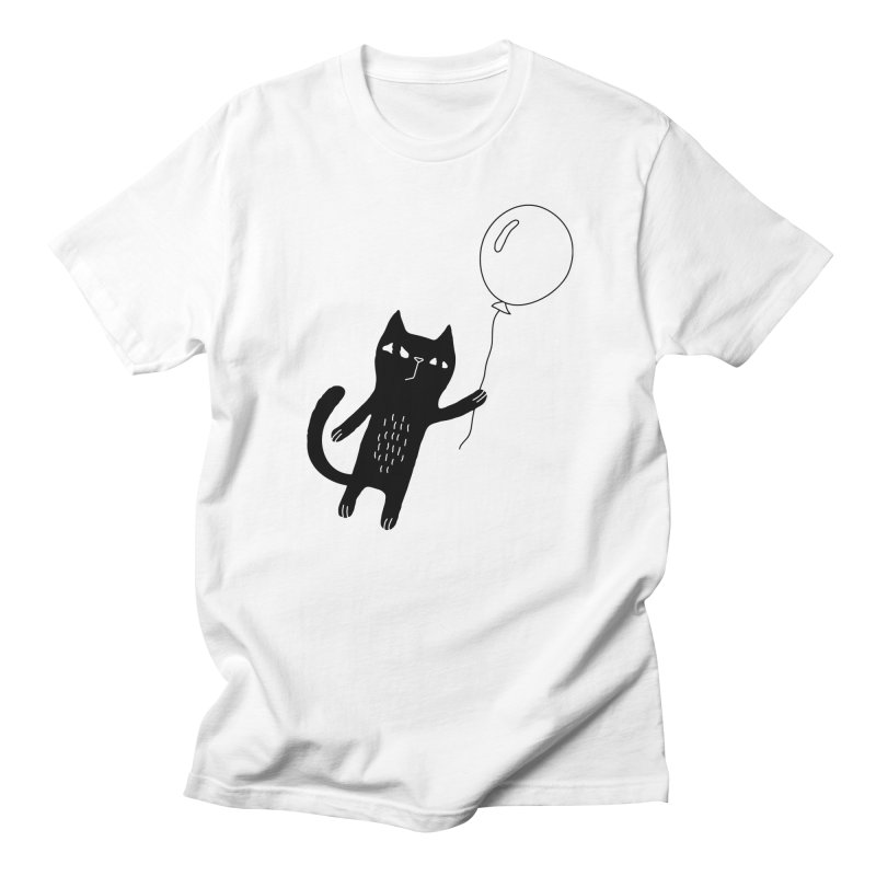 Flying Cat Men's Regular T-Shirt by Ekaterina Zimodro's Artist Shop