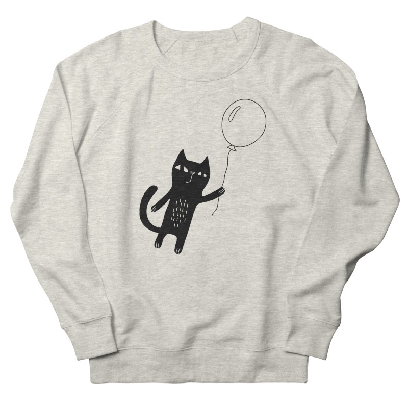 Flying Cat Women's French Terry Sweatshirt by PENARULIT illustration