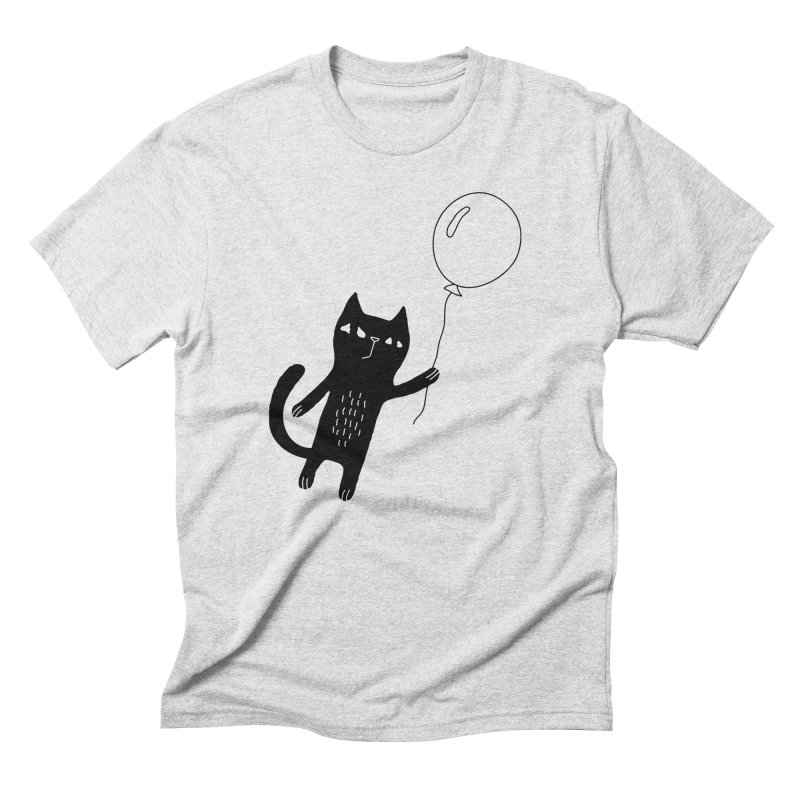 Flying Cat Men's Triblend T-Shirt by Ekaterina Zimodro's Artist Shop
