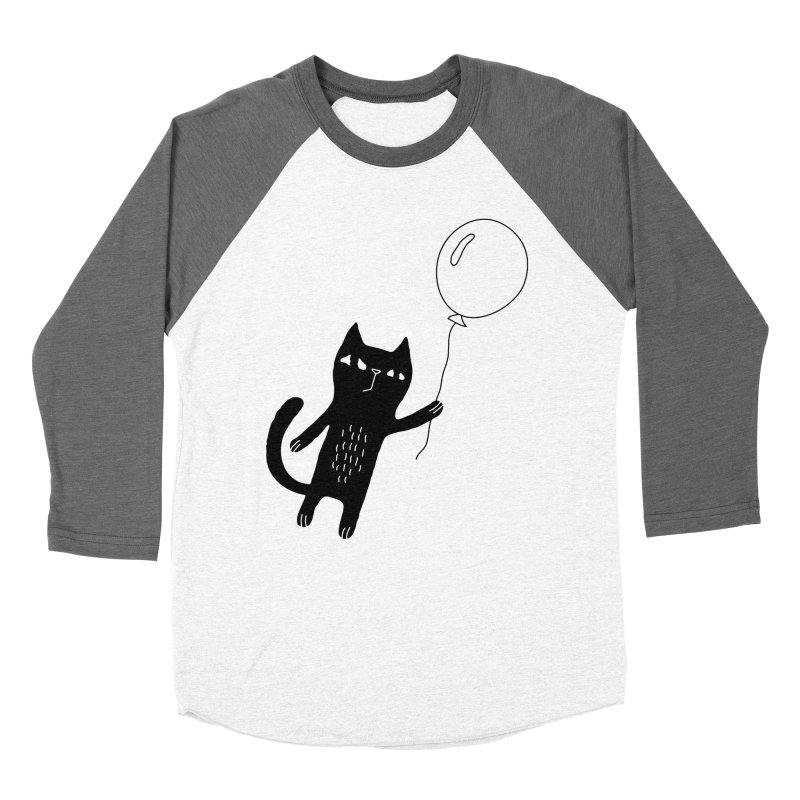 Flying Cat Women's Baseball Triblend Longsleeve T-Shirt by PENARULIT illustration