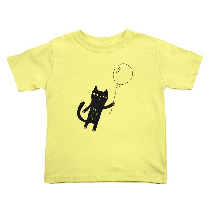 Flying Cat Kids Toddler T-Shirt by Ekaterina Zimodro's Artist Shop