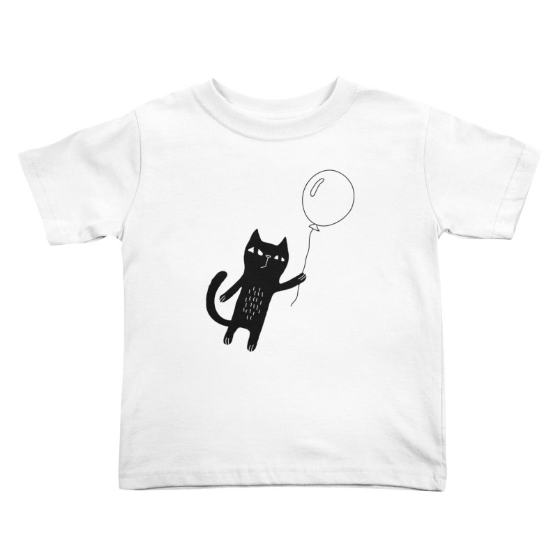 Flying Cat Kids Toddler T-Shirt by PENARULIT illustration
