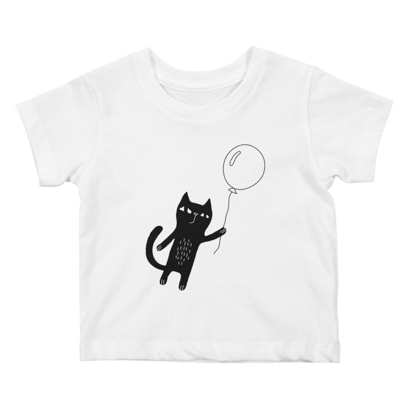Flying Cat Kids Baby T-Shirt by PENARULIT illustration