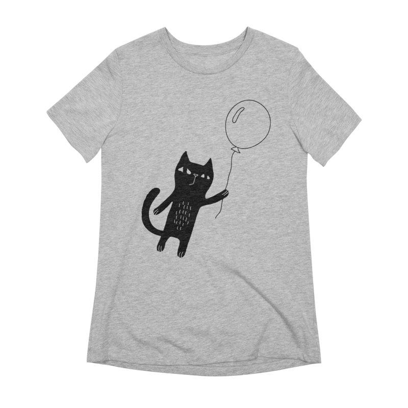 Flying Cat Women's T-Shirt by Ekaterina Zimodro's Artist Shop