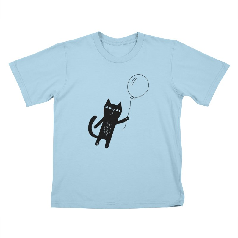 Flying Cat Kids T-Shirt by Ekaterina Zimodro's Artist Shop