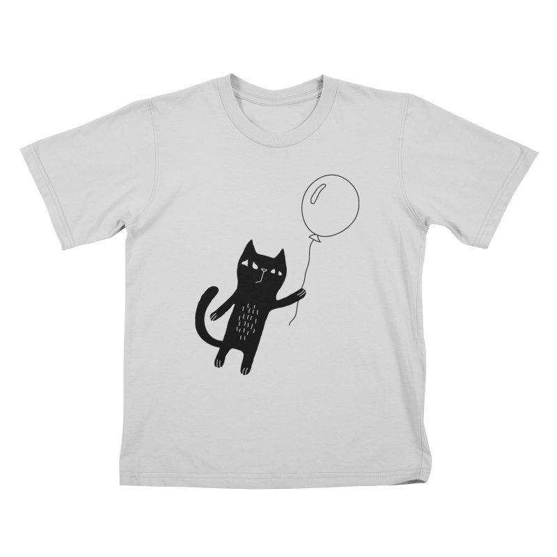 Flying Cat Kids T-Shirt by Ekaterina Zimodro's Artist Shop