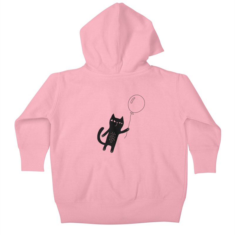 Flying Cat Kids Baby Zip-Up Hoody by Ekaterina Zimodro's Artist Shop