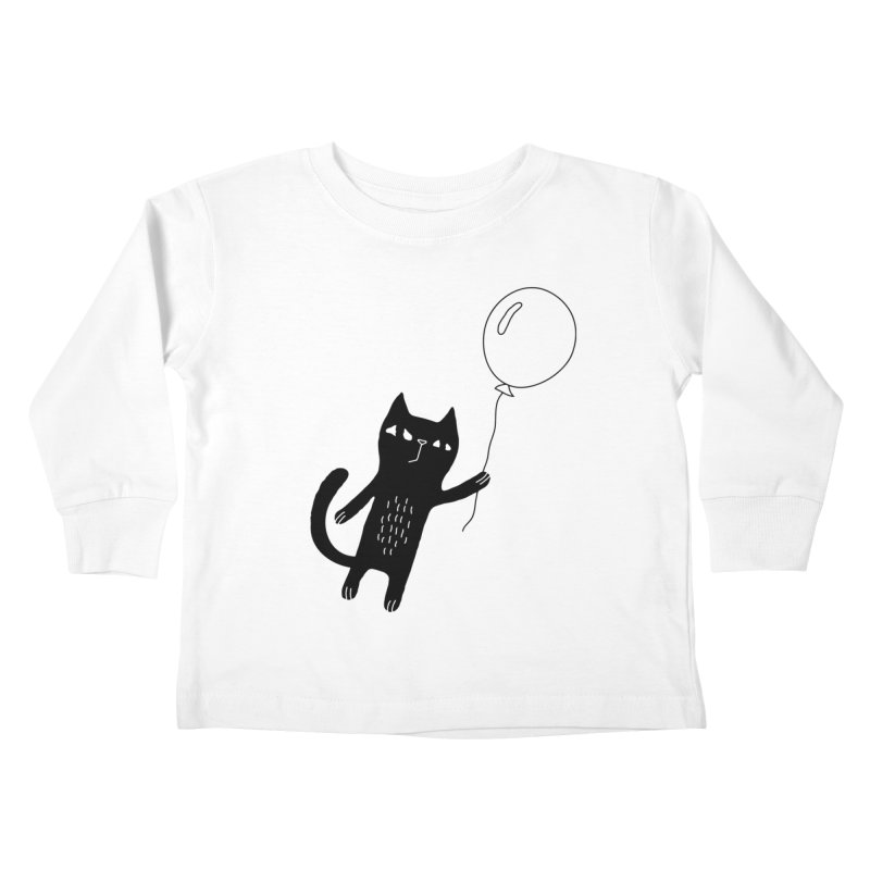 Flying Cat Kids Toddler Longsleeve T-Shirt by PENARULIT illustration