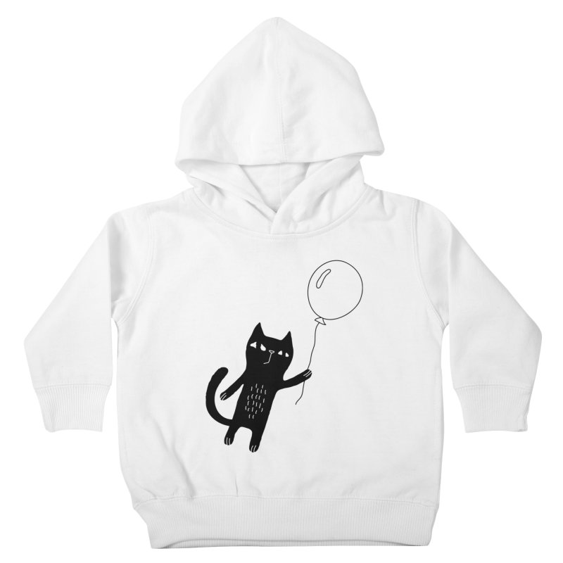 Flying Cat Kids Toddler Pullover Hoody by Ekaterina Zimodro's Artist Shop
