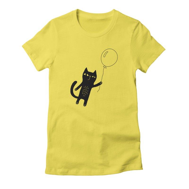 Flying Cat Women's T-Shirt by PENARULIT's Artist Shop