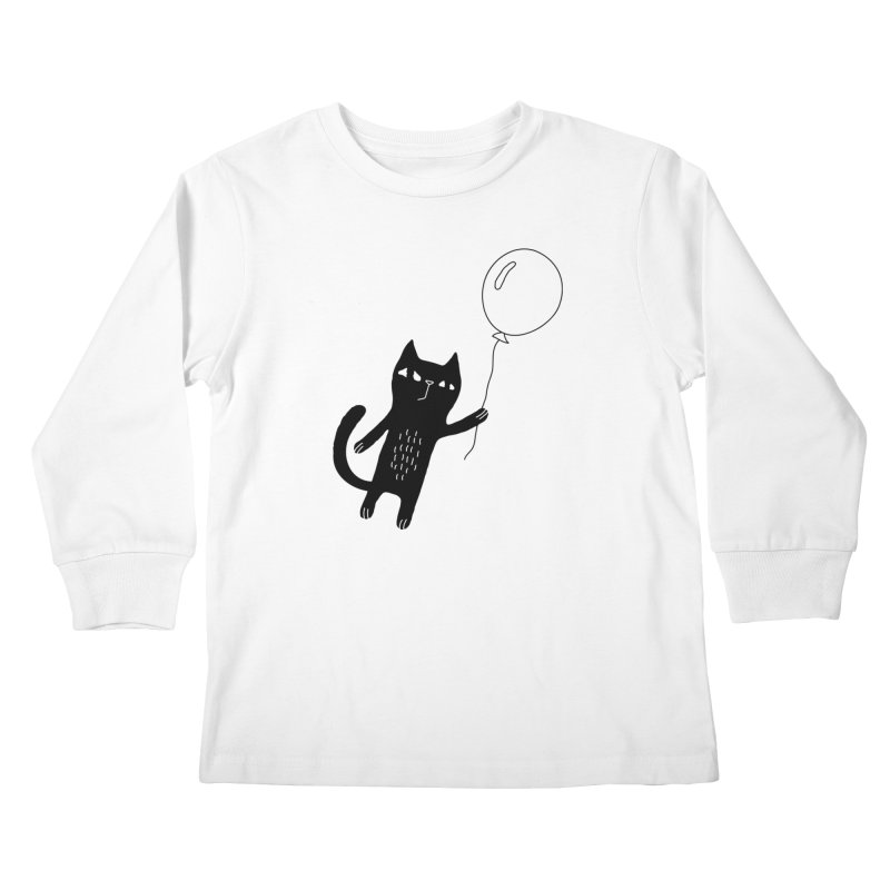 Flying Cat Kids Longsleeve T-Shirt by Ekaterina Zimodro's Artist Shop