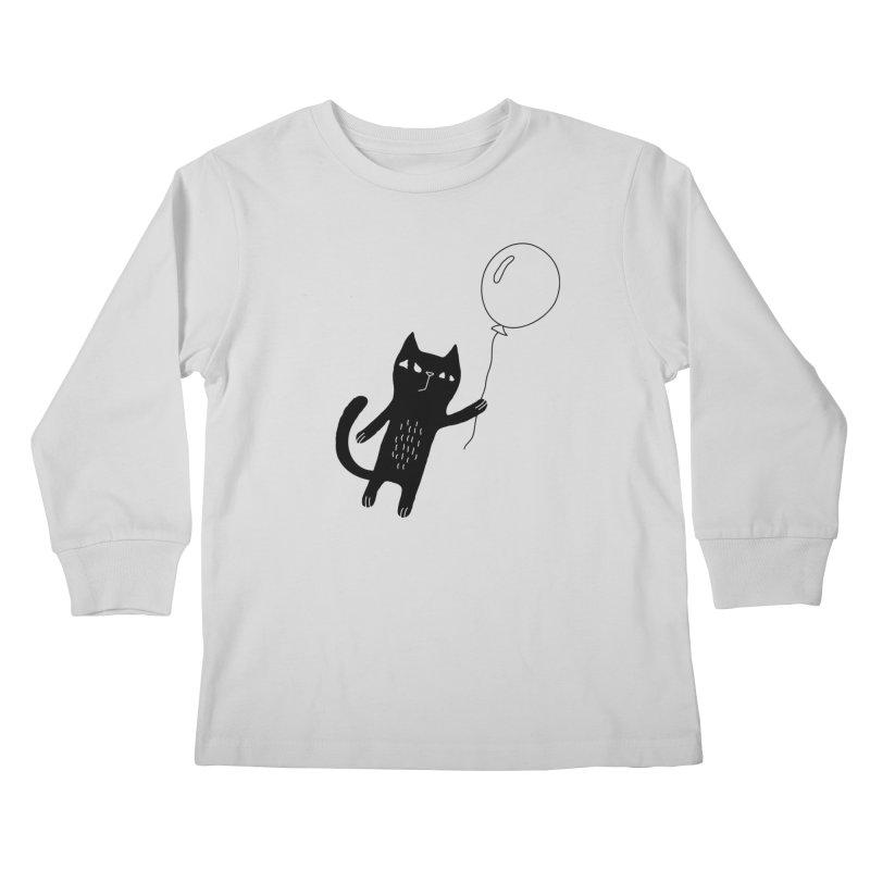 Flying Cat Kids Longsleeve T-Shirt by PENARULIT's Artist Shop