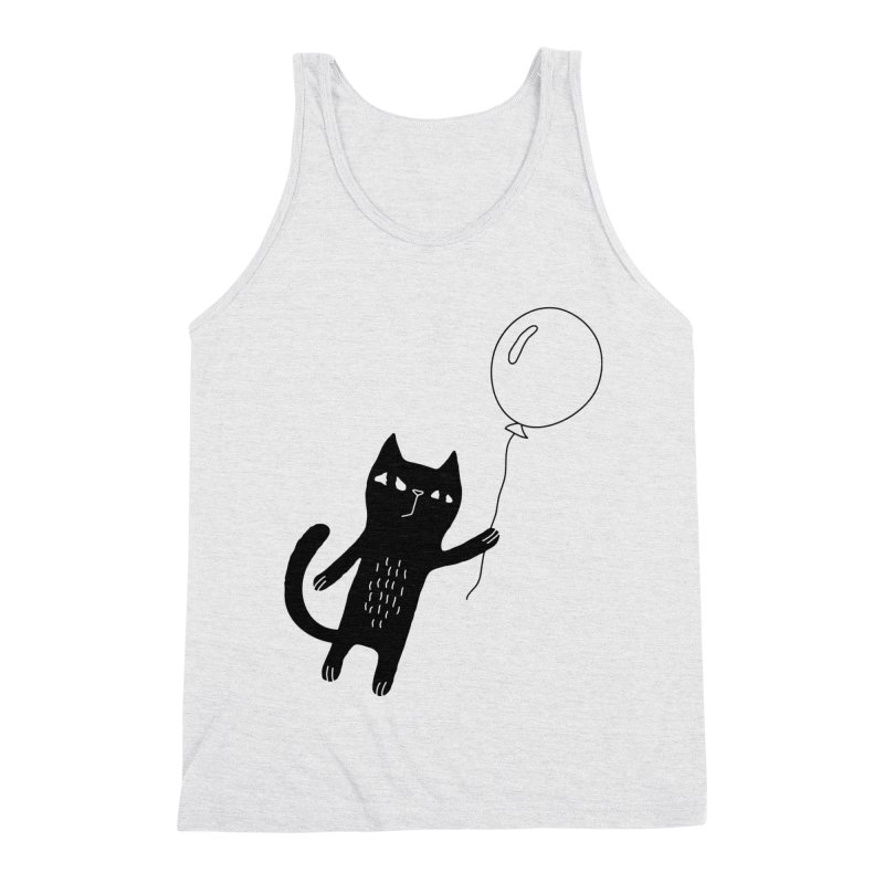 Flying Cat Men's Triblend Tank by PENARULIT illustration